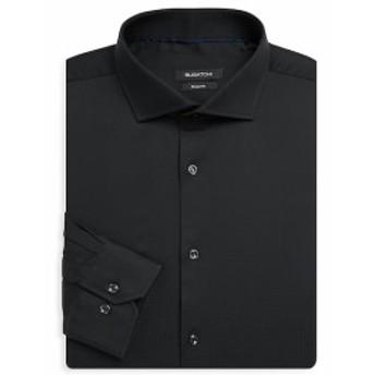 ブガッチ Men Clothing Long Sleeve Woven Cotton Shaped Shirt