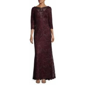 タダシショウジ レディース ワンピース Three-Quarter Embroidered Dress