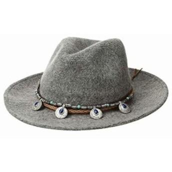 サン ディエゴ ハット カンパニー レディース ハット キャップ 帽子 KNH3620 Western Trim Knit Fedora