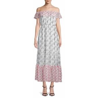 ファースト サイト レディース ワンピース Printed Off-The-Shoulder Maxi Dress
