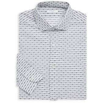 ボグリオリ Men Clothing Slim-Fit Printed Dress Shirt