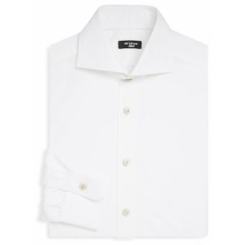キトン Men Clothing Cotton Solid Dress Shirt