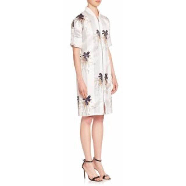 ビクトリアベッカム レディース ワンピース Printed Zip-Front Dress