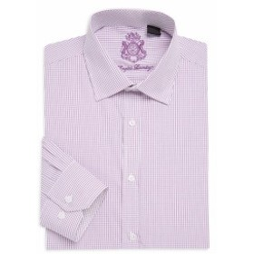 イングリッシュランドリー Men Clothing Micro Check Cotton Dress Shirt