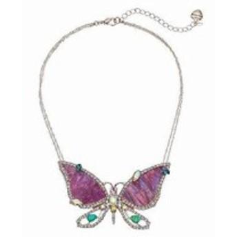 ベッツィ ジョンソン レディースアクセサリ ネックレス ペンダント Purple and Rose Gold Butterfly Penda