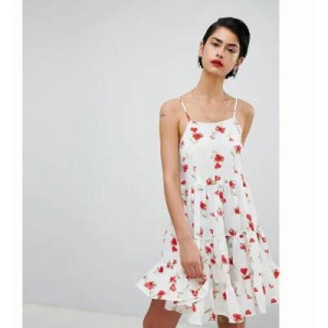 ミスガイデッド ワンピース Cami Strap Floral Smock Dress Multi