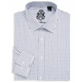 イングリッシュランドリー Men Clothing Checkered Cotton Dress Shirt