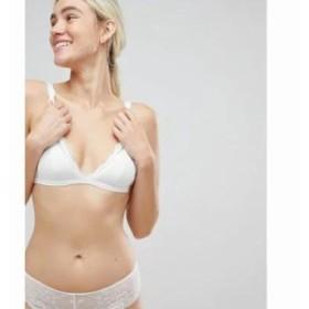 モンキー ブラジャーのみ triangle lace bra in white White