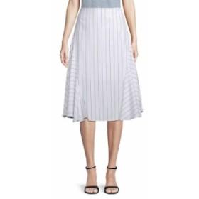 レディース スカート Striped Fit-and-Flare Midi Skirt