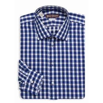 ヒッキーフリーマン Men Clothing Gingham Cotton Dress Shirt