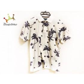 マンシングウェア Munsingwear 半袖ポロシャツ メンズ アイボリー×ダークグレー   スペシャル特価 20190820