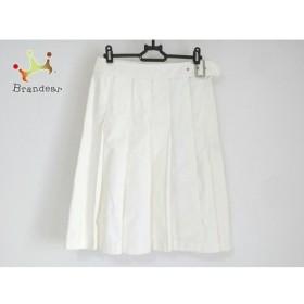 バーバリーロンドン Burberry LONDON 巻きスカート サイズ36 M レディース 美品 白   スペシャル特価 20190730