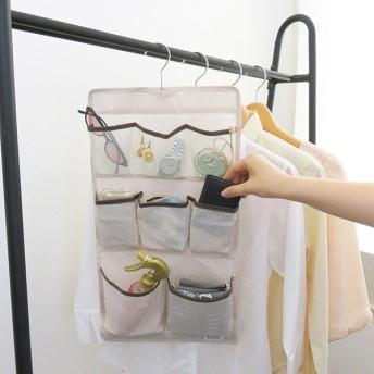 小物整理ポケット 吊り下げ 収納 小物整理 ポケット Poleco ハンガー付き 不織布 ( 吊るす 小物収納 ハンカチ 時計 クローゼット収納 )
