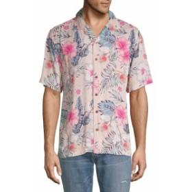 スタンダード イシュー NYC Men Clothing Tropical-Print Button-Down Shirt