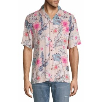 スタンダード イシュー NYC Men Clothing Tropical-Print Button-Down Shirt