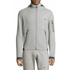 J. リンデベルク Men Clothing Active Athletic Hooded Jacket