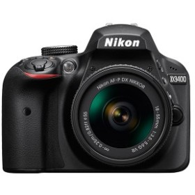 Nikon D3400 18-55 VRレンズキット ブラック [デジタル一眼カメラ(2416万画素)]【あす着】