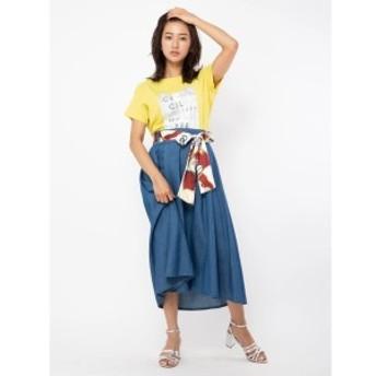 セシルマクビー(CECIL McBEE)/スカーフ付きフレアスカート