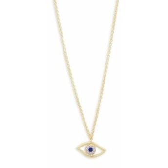 メイラT レディース ジュエリー Evil Eye Blue Sapphire, Diamond and 14K Yellow Gold Pendant Necklace