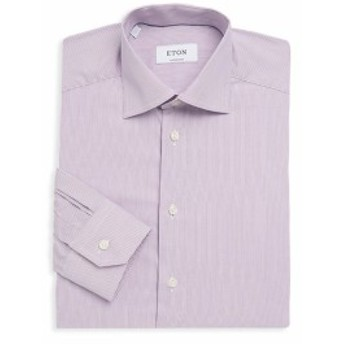 イートン Men Clothing Pinstripe Cotton Dress Shirt