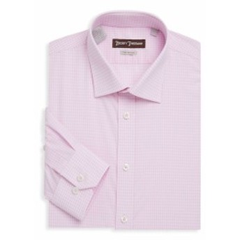 ヒッキーフリーマン Men Clothing Non-Iron Gingham Cotton Dress Shirt