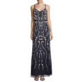 アドリアーナ パペル レディース ワンピース Beaded Blouson Dress