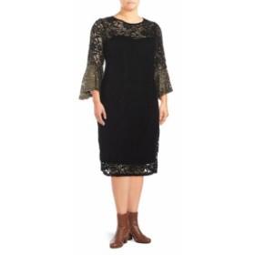 マリーナ レディース ワンピース Bell Sleeve Lace Dress