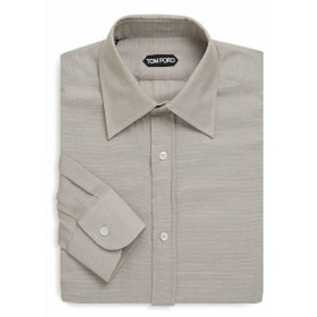トムフォード Men Clothing Pinstripe Cotton Dress Shirt