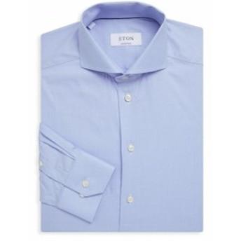 イートン Men Clothing Textured Cotton Dress Shirt