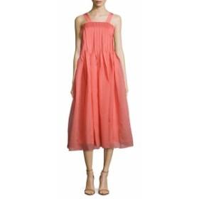 ティビ レディース ワンピース Squareneck Pleated Dress