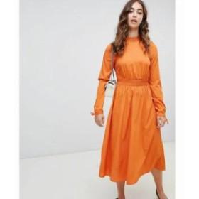 ヴェロモーダ ワンピース High Neck Maxi Dress Rust