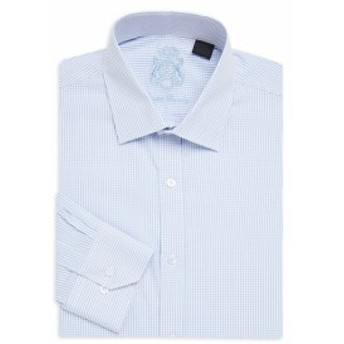 イングリッシュランドリー Men Clothing Micro Check Cotton Dress Shirt