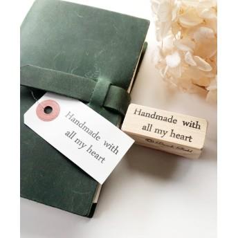 Handmade Stamp「心を込めて作りました」ブロック体