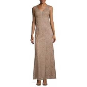 アドリアーナ パペル レディース ワンピース Embroidered Sleeveless Gown