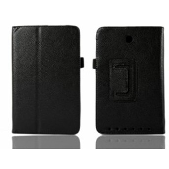 【ASUS MeMO Pad HD 7 ME173】レザー風タブレットPCスタンドケース・カバー【ブラック】【新品/送料込み】