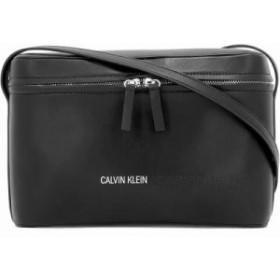 カルバンクライン ショルダーバッグ Black leather shoulder bag Black