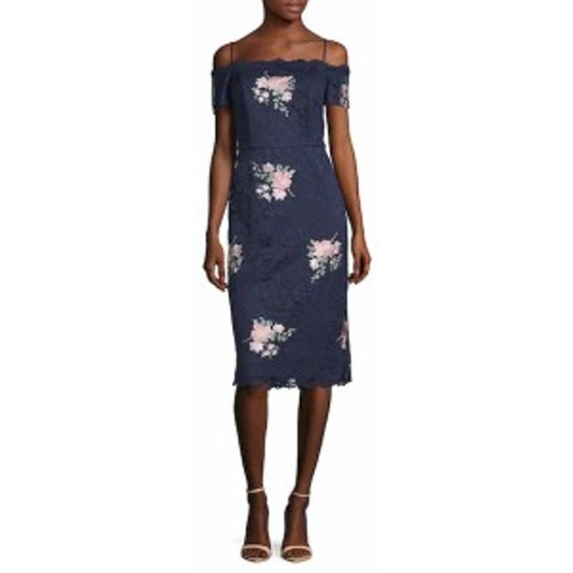 ニコールミラー レディース ワンピース Floral Lace Sheath Dress