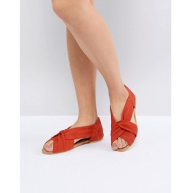 エイソス サンダル・ミュール DESIGN Janel Suede Summer Shoes Red suede