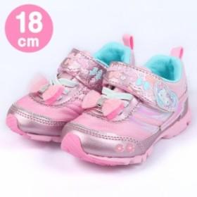 ハローキティ ムーンスター スニーカー 運動靴 バネのチカラ MoonStar ピンク 18cm☆サンリオ 入園入学通園通学キッ