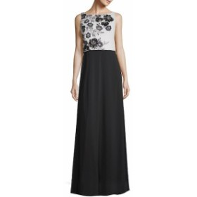 カーメンマークバルボインフュージョン レディース ワンピース Colorblocked Floral Floor-Length Gown
