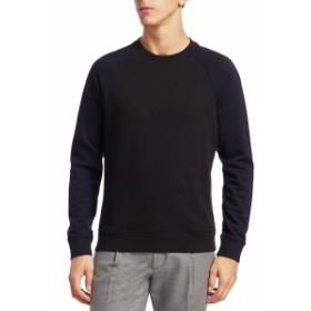 サックスフィフスアベニュー Men Clothing MODERN Baseball Cotton Sweater