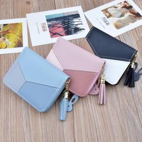 財布 ウォレット カード入れ カードケース 小銭入れ コインケース フェイクレザー ファスナー ジッパー バイカラー 可愛い うさぎ