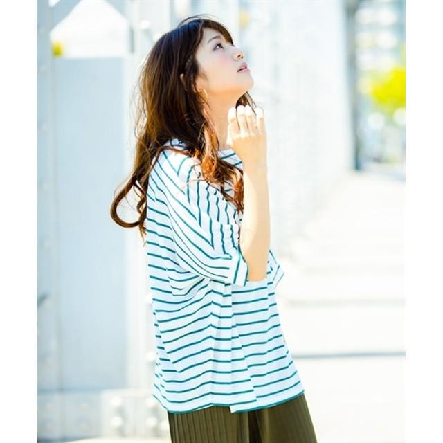 【ゆったりワンサイズ】UVケア。接触冷感ゆるっとドルマンスリーブプルオーバー (Tシャツ・カットソー)(レディース)T-shirts