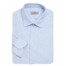 カナリ Men Clothing Striped Cotton Dress Shirt