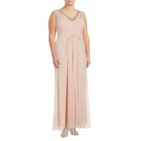 マリーナ レディース ワンピース V-Neck Cinched Gown
