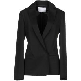 《9/20まで! 限定セール開催中》AGLINI レディース テーラードジャケット ブラック 44 コットン 97% / ポリウレタン 3%