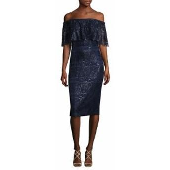 テイア レディース ワンピース Off-the-Shoulder Lace Dress