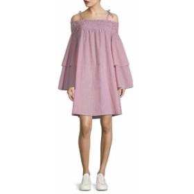 ファースト サイト レディース ワンピース Tiered Bell-Sleeve Shift Dress