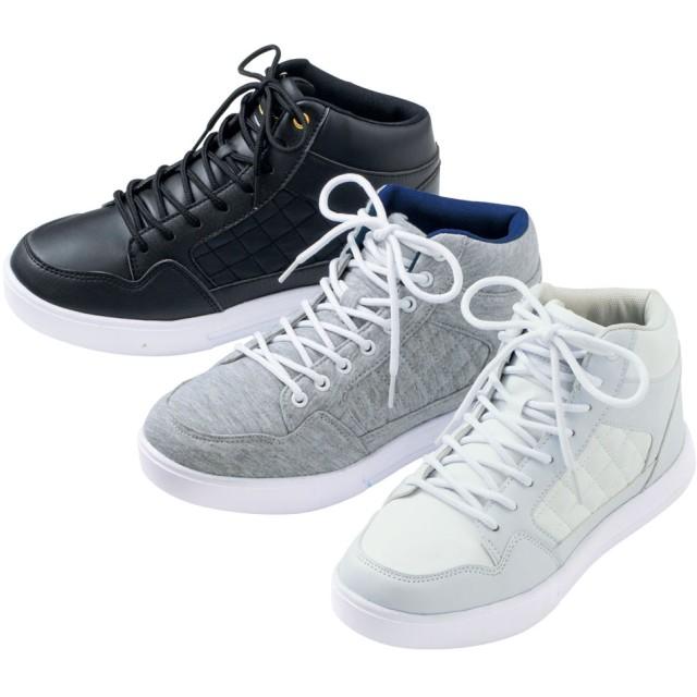 【格安-女性靴】レディース軽量コートタイプミッドカットスニーカー