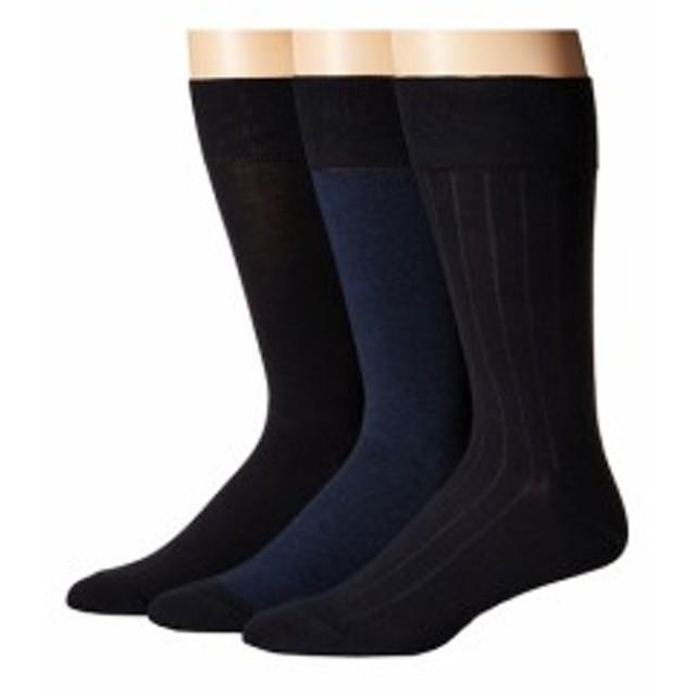 コールハン メンズ 靴下 3-Pack Nailhead/Rib/Solid